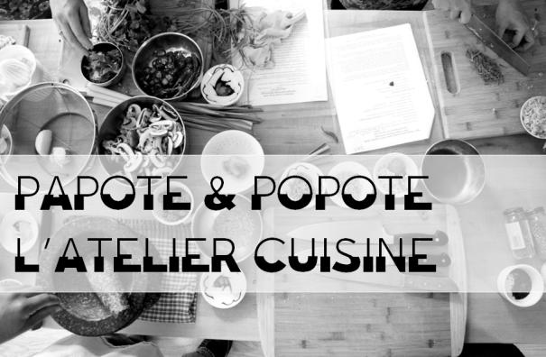 Visuel Papote&Popote - Atelier cuisine 2